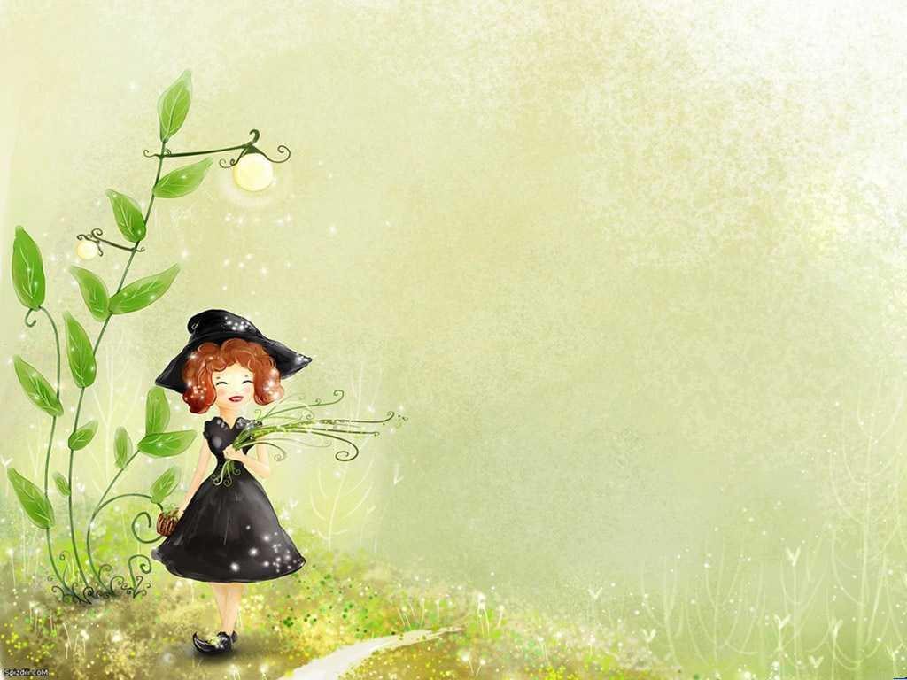 淘一淘分享网提供可爱小女孩ppt背景图片素材免费