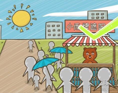 大笨熊小阳在出太阳的时候卖雨伞请你帮他把伞卖出去,史小坑的烦恼5第82关攻略!