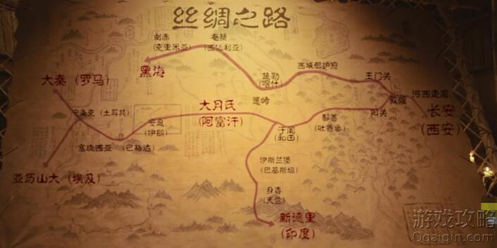 张骞出使西域(丝绸之路)地图介绍(图)